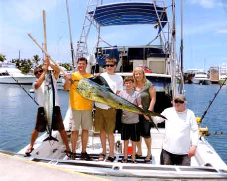We catch Ahi, tuna, ono, marlin