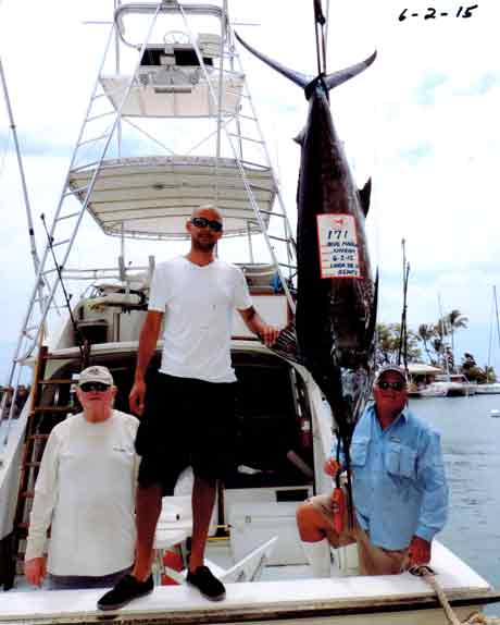 stripe Marlin, spearfish - Kona Fishing on  Linda Sue III