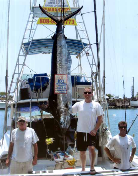 Big blue marlin Kona HI